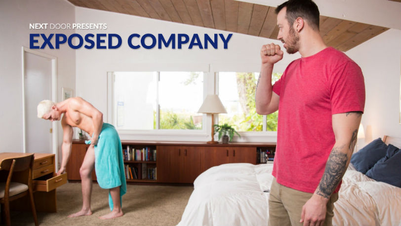 "Jay Dymel wants Mark Long to fuck the cum out of him in ""Exposed Company"" at Next Door Studios"