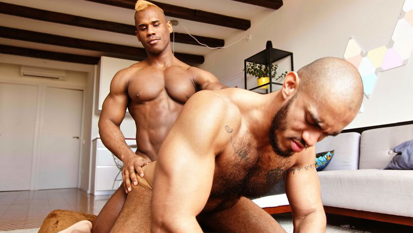 TimTales : Muscle god Ridder Rivera is giving his raw cock to Louis Ricaute