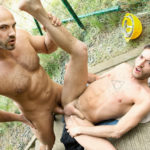 """Muscle hunk Tomm makes Rico Fatale his bitch of the day in """"Jizz Shower"""" from Bromo"""