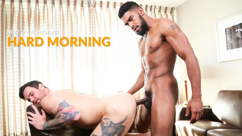 "Beau Reed plunges his cock deep inside XL in this flip-fuck ""Hard Morning"" from Next Door Studios"