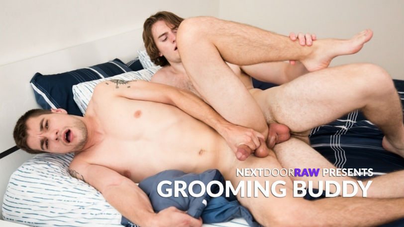 "Princeton Price moans as Alexs Grand fucks him in ""Grooming Buddy"" from Next Door Raw"