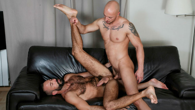 "Xavi Garcia gets pounded deep and hard by Attila Kardos in ""Flip-Flop"" from Kristen Bjorn"