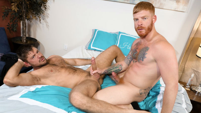 "Jack Andy and Bennett Anthony in ""First Time With A Ginger"" from Pride Studios"