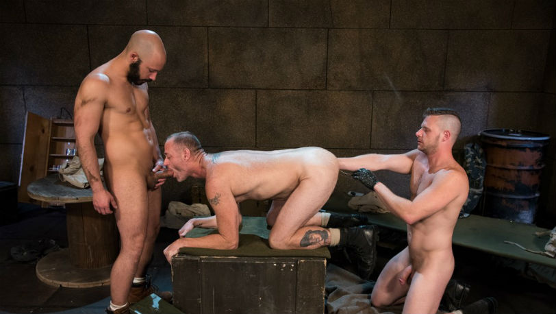 "Brian Bonds, Dylan Strokes and D Arclyte in ""Arm-ageddon"" part 5 at Club Inferno Dungeon"