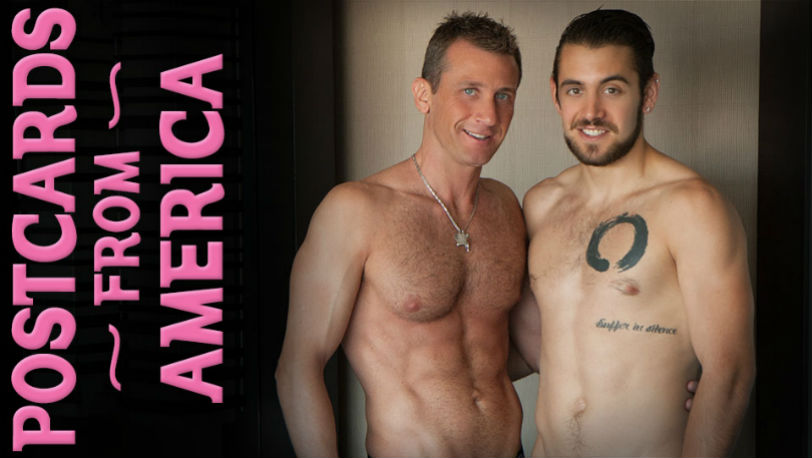 "Dante Colle and Ettore Tosi in ""PostCards from America"" part 1 from Lucas Kazan"