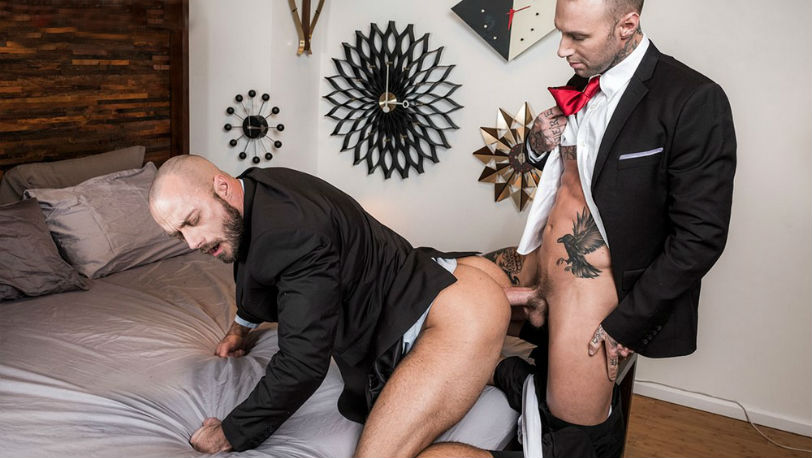 "Jessie Colter & Dylan James in ""Gentlemen 23: White Collar Breeders"" part 1 from Lucas Entertainment"