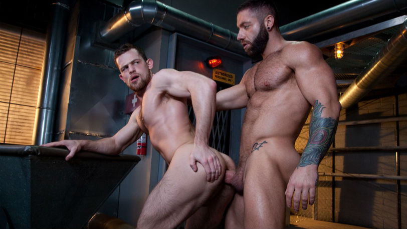 Sweaty studs Kurtis Wolfe and Eddy Ceetee in 'Raw Power' part 1 from Raging Stallion
