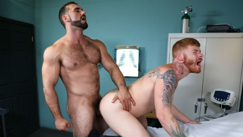 "Dr. Bennett Anthony gets fucked by Jaxton Wheeler in ""I Need To Be Examined"" from Pride Studios"