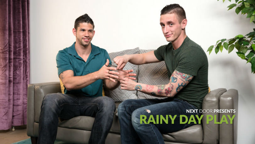 "Lance Ford makes his way down Jason Richards' big dick in ""Rainy Day Play"" at Next Door Studios"