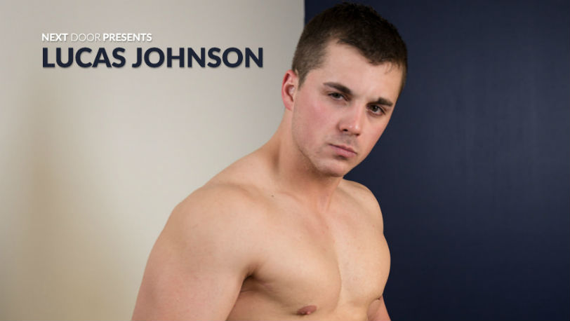 Lucas Johnson seduces the camera with his words and body at Next Door Studios
