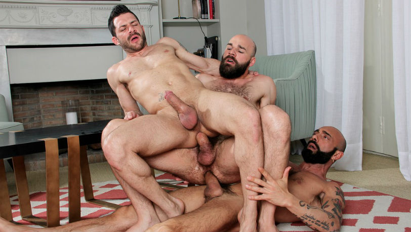 "Max Duro, Angelo Curti and Gianni Maggio in ""Give and Receive"" from Kristen Bjorn"