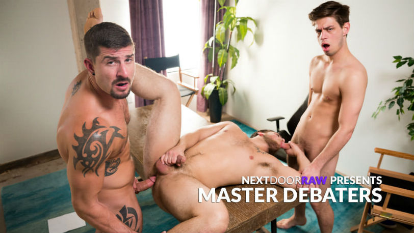 "Michael Del Ray, Sean Maygers & Scotty Dickenson in ""Master Debaters"" from Next Door Raw"
