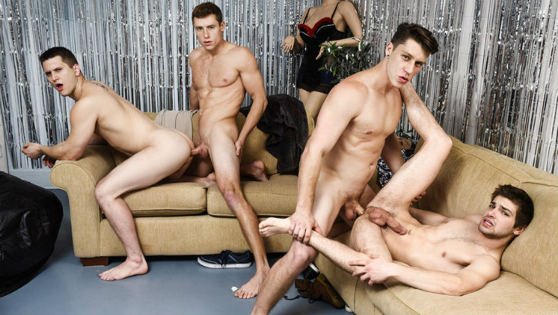 "Paul Canon, Johnny Rapid, Allen Lucas and Justin Matthews in ""Late Bloomer"" part 2 from Men.com"