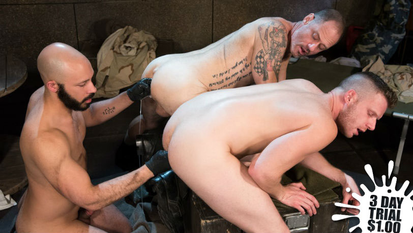 "Brian Bonds, Dylan Strokes & D Arclyte in ""Arm-ageddon"" part 6 at Club Inferno Dungeon"