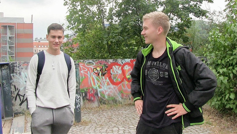 Czech Hunter #358 : A beautiful athletic boy walked right into our threesome trap