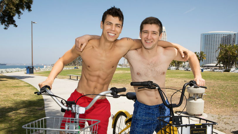 Sean Cody newcomer Hayes gets to experience a lot of firsts with muscle jock Kaleb