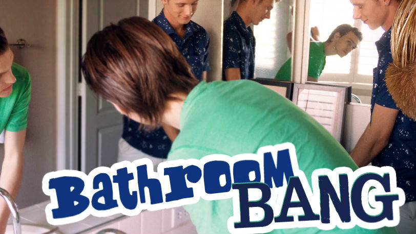 "Julian Bell and Dustin Cook in ""Bathroom Bang"" from 8teenBoy"