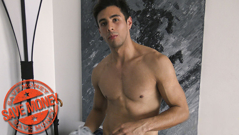 Latin Leche : This young muscle stud rides dick, jerks off, and gets his bubble butt fucked