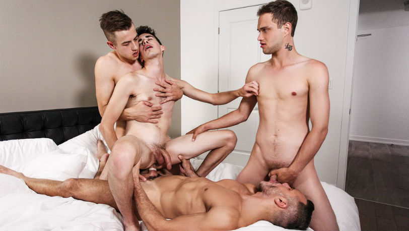 "Stig Andersen, Jake Washington, Jake Nobello & Manuel Skye in ""Daddy's Day"" from Men.com"
