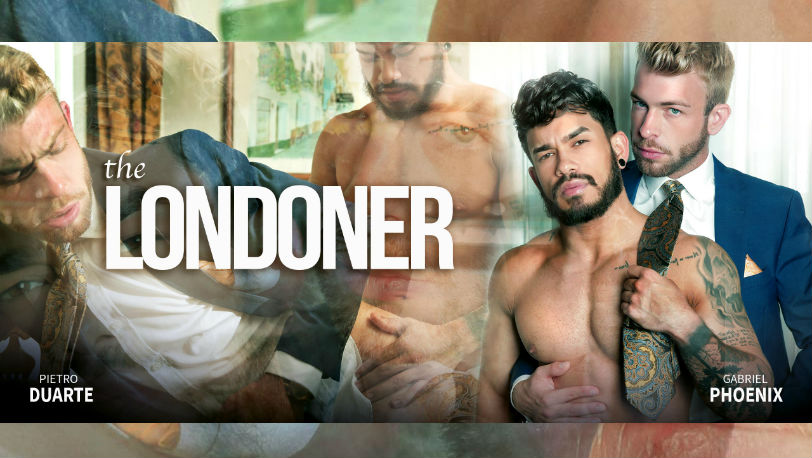 "Pietro Duarte and Gabriel Phoenix flip-fuck in ""The Londoner"" from Men at Play"