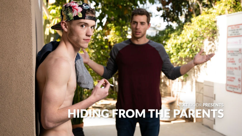 "Scott Finn and Carter Woods in ""Hiding From The Parents"" from Next Door Studios"
