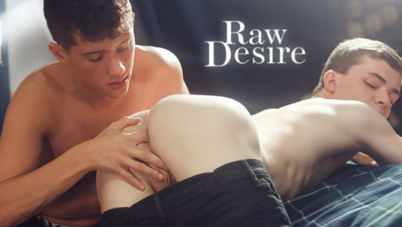 "Tight bodied twinks Collin Adams and Tyler Hill in ""Raw Desire"" from Helix Studios"