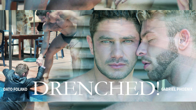 "Hot hunks Dato Foland and Gabriel Phoenix in ""Drenched"" from Men at Play"
