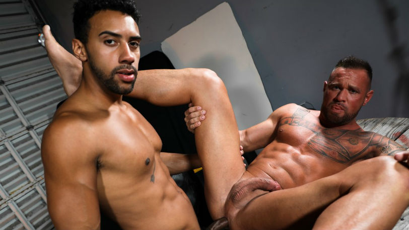 "Jay Alexander and Michael Roman in ""Give Me That Big Dick"" from Pride Studios"