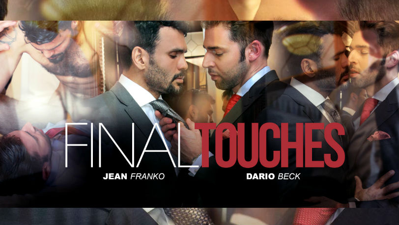 "Dario Beck helps Jean Franko with his tie in ""Final Touches"" from Men at Play"