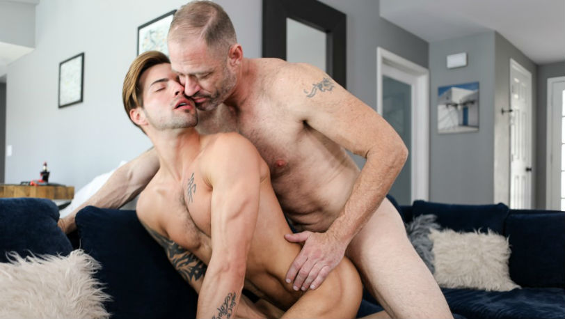 "Casey Everett and D.Arclyte in ""Yes Daddy!"" from Icon Male"