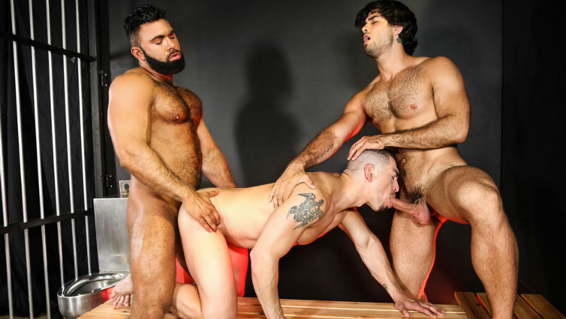 "Diego Sans, Steven Roman and Jeremy Spreadums in ""Coast Guards"" part 3 from Men.com"