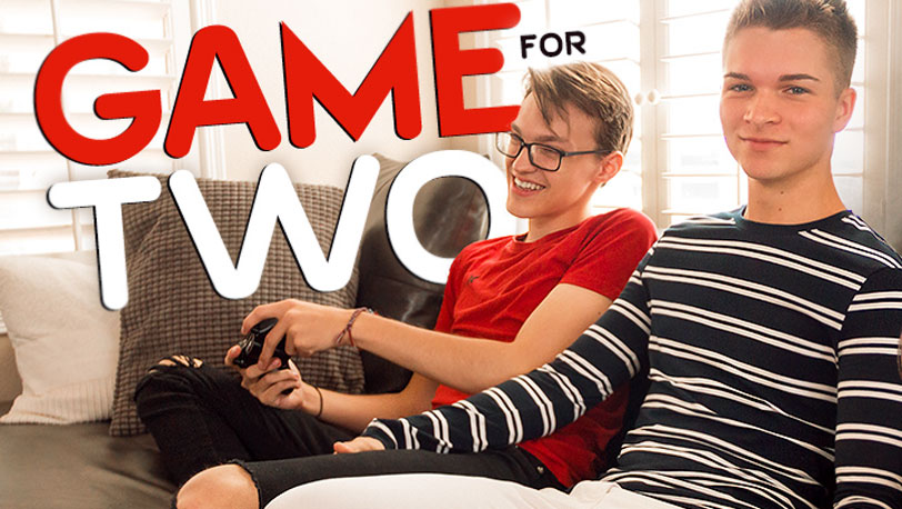 "Hot twinks Dustin Cook and Taylor Colman in ""Game for Two"" from 8teenBoy"
