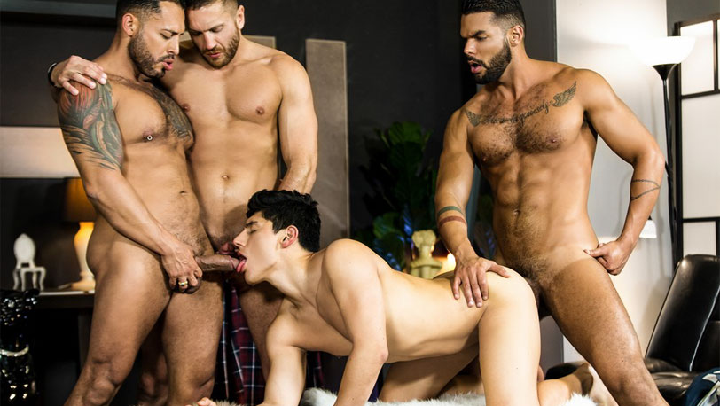 "Emir Boscatto, Ken Summers, Viktor Rom and Lucas Fox in ""Telenovela"" part 4 from Men.com"