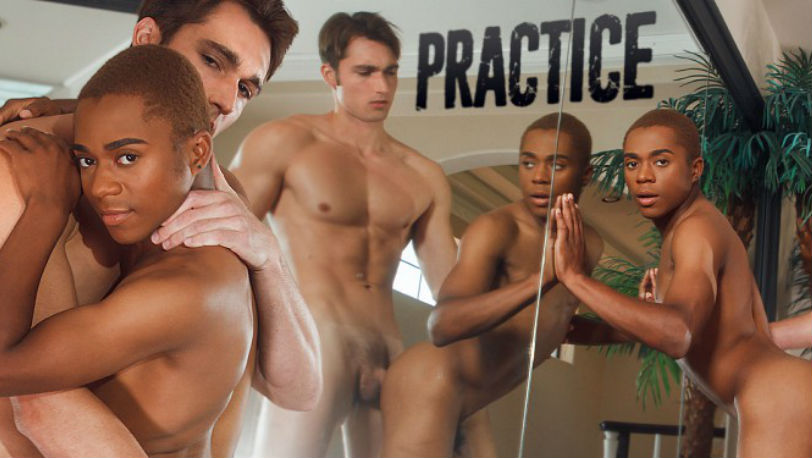 "Luke Wilder sweeps Marcell Tykes off his feet in ""Practice"" from Helix Studios"