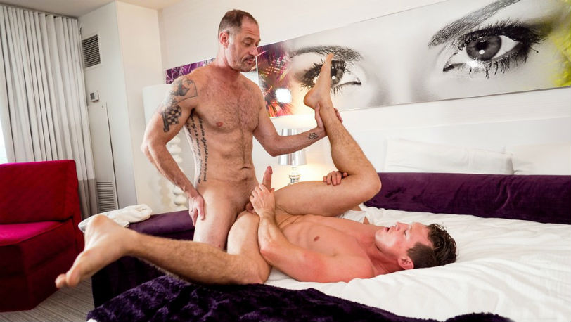 "D.Arclyte and Pierce Paris are bursting with cum in ""Massage Me"" from Icon Male"