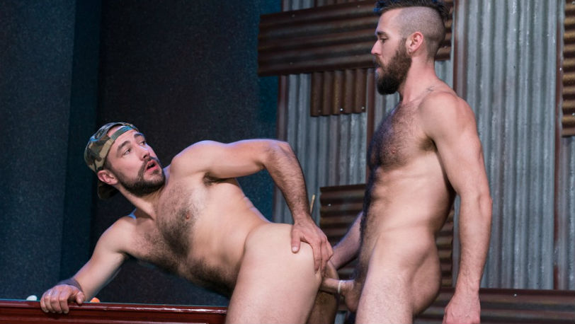 "Furry hunks Ziggy Banks and Ashland in ""Furgasm"" part 3 from Raging Stallion"