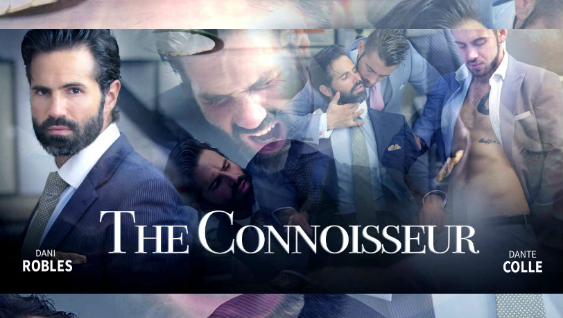 "Well-suited Dani Robles and Dante Colle in ""The Connoisseur"" from Men at Play"
