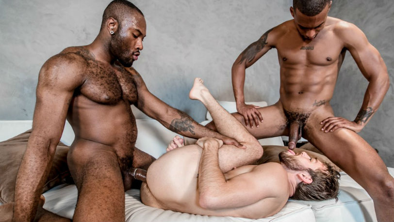 "Noah Donovan, Max Adonis and Jacen Zhu in ""Stepbrother Threeway"" from Noir Male"