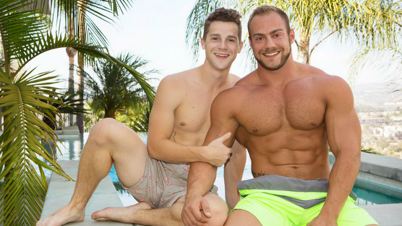 Robbie cannot wait for muscular, bearded Brock to get inside of his eager hole - Sean Cody
