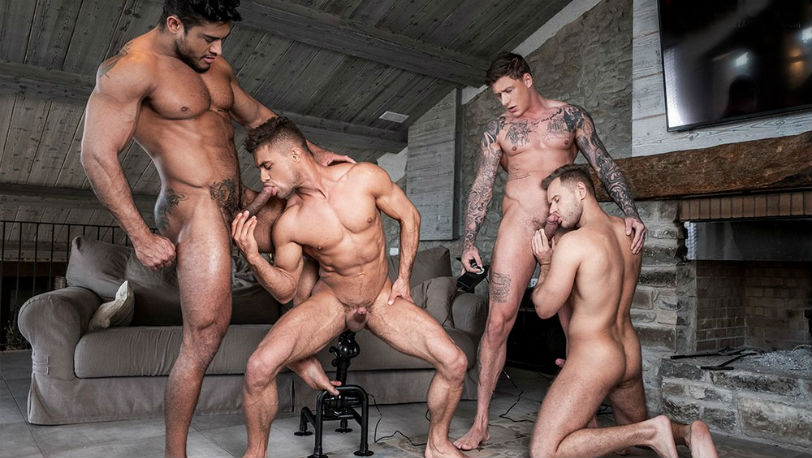 Yuri Orlov, Klim Gromov, Geordie Jackson and Diego Lauzen at Lucas Entertainment