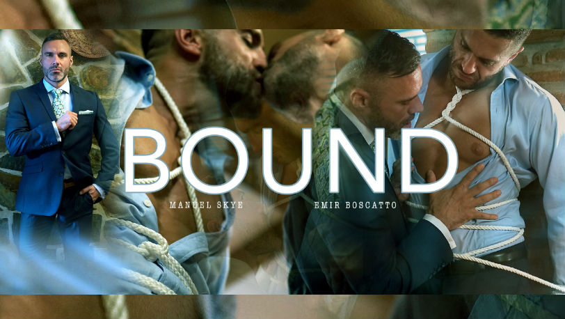 "Emir Boscatto and Manuel Skye looking hotter than ever in ""Bound"" from Men at Play"