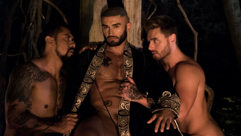 "CockyBoys : ""All Saints"" part 4 starring Boomer Banks, Josh Moore, Ricky Roman & Francois Sagat"