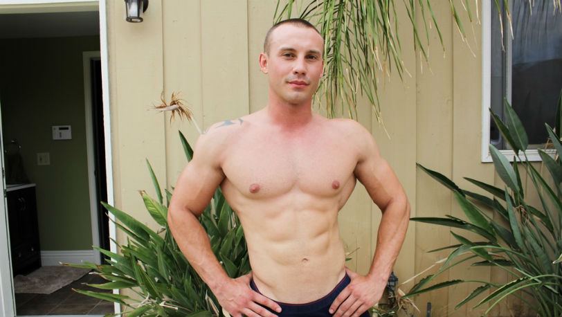 Marc Montana doesn't waste any time ripping his clothes off at Active Duty