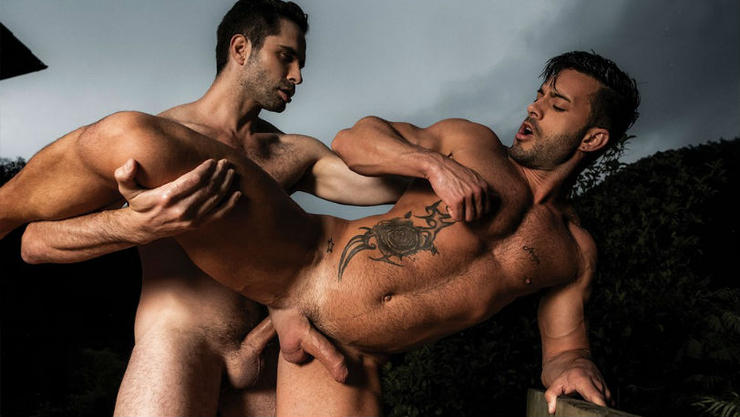 "Michael Lucas breeds Andy Star in ""Bareback Guy Pile"" part 4 at Lucas Entertainment"