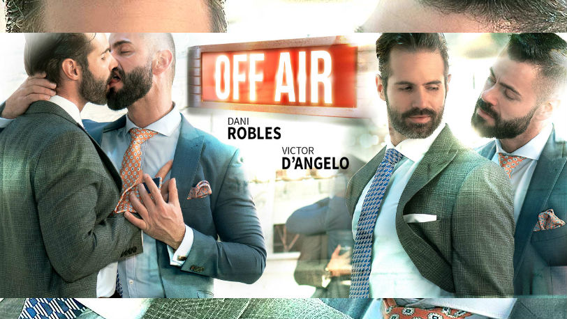 "Suited hunk Victor D'Angelo plows Dani Robles in ""Off Air"" from Men at Play"