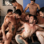 Hot 11-man bareback orgy with Drake Rogers, James Castle and many more at Lucas Entertainment