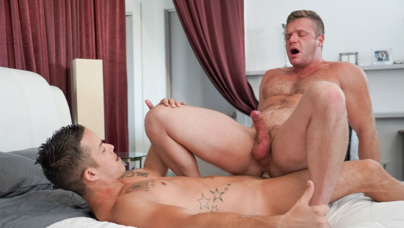 "Hot guys Nic Sahara and Brian Bonds in ""Just a Fantasy"" from Icon Male"